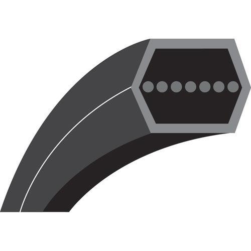 AA112M : Courroie hexagonale pour Tondeuses autoportées HUSQVARNA - JONSERED Autoportées coupe AR 42'' - Longueur extérieure: 2898 mm - N° origine: 532402009