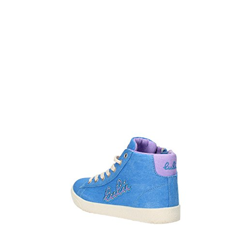 LULU Mädchen sneakers pink / Blau segeltuch Blau
