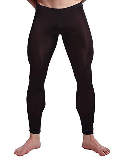 iEFiEL Herren Strumpfhose Leggings Hose Tights sexy Transparent Unterwäsche Strumpfhose Lange Pantyhose Schwarz M
