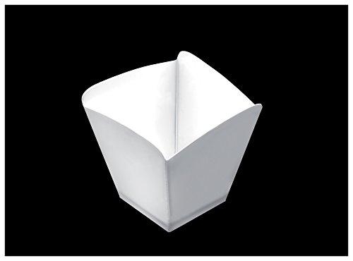 Gold Plast-COUPELLE ONDE-25 par paquet 57x57 mm blanc