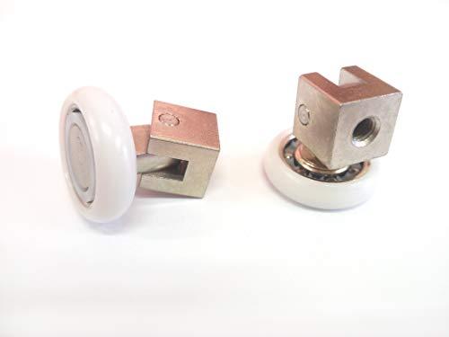 Ricambio Cuscinetti Box Doccia per ante a scorrimento Kit 2 PEZZI Mod 20 BW Liscio