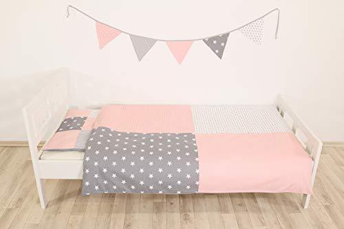 Junto ropa cama niño ULLENBOOM ® rosa gris juego