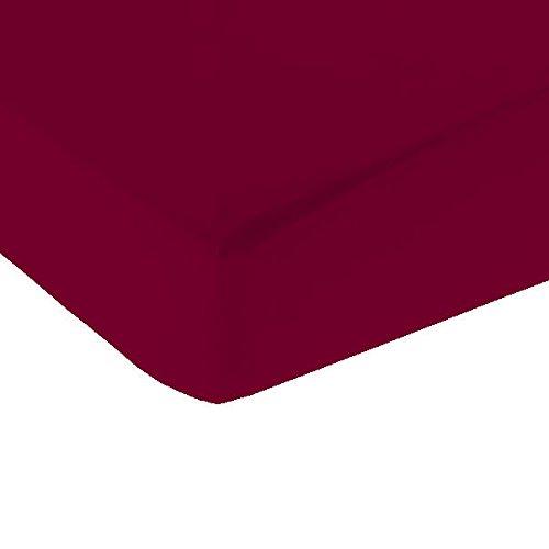 Drap housse 2X80X200 tissage serré Bonnet de 25 CM 100%coton Vandenhove Linge De Maison By VLM (Fruits des bois)