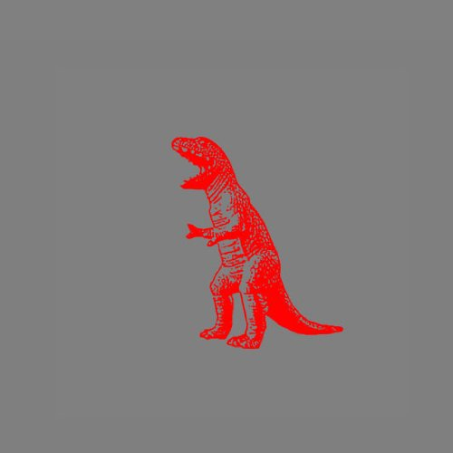 TBBT T-Rex Dinosaur - Herren Langarm T-Shirt Schwarz