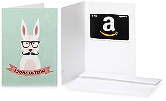Amazon.de Grußkarte mit Geschenkgutschein - 10 EUR (Hipster-Hase)