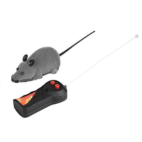 Smandy Katzenspielzeug Fellmaus Spielzeug drahtlose Fernbedienung Maus Spielzeug Spielzeugmäuse für Katzen(Grau)