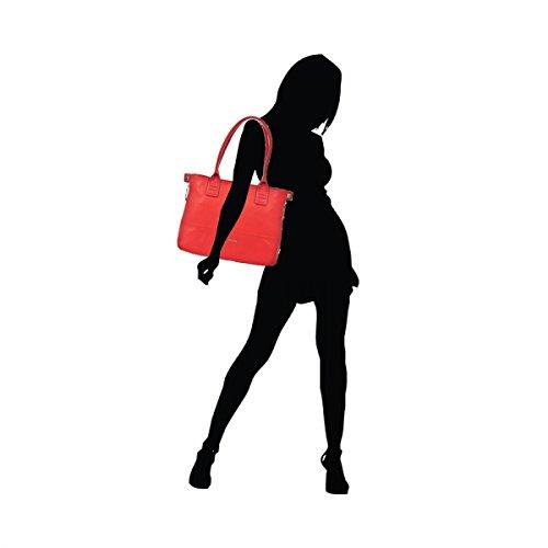 Piquadro Deneb shopping bag con espansione - BD3091S72 (Rosso) Rosso