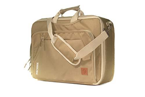 Multifunktionale Business Tasche - 3in1: Wandelbarer Rucksack, Umhängetasche & Laptoptasche für Herren, Arbeitstasche Männer - Business Daypack by Necesse (Braun) - Minimalistischer Rucksack