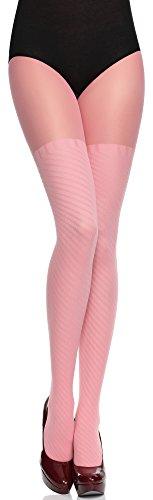 Merry Style Damen Fasching Strumpfhose Tida 60 DEN (Rosa, S (32-36))