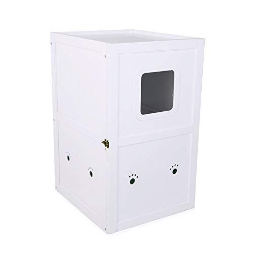Hölzerne Katzentoilette im Innenbereich vollständig geschlossenes Spritzen-WC-Katzenklo...