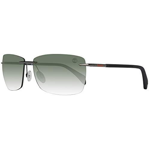 Occhiali da sole polarizzati timberland tb9009 c61 08r (shiny gumetal / green polarized)