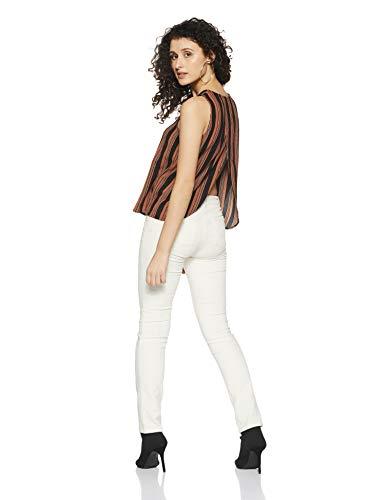 VERO MODA Women's Body Blouse Top (10183008_Copper Brown_Small)