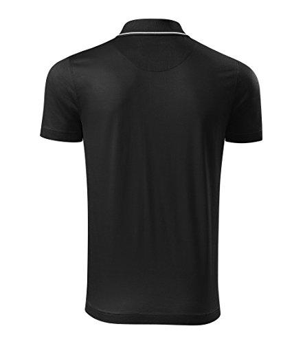 Modisches Herren Poloshirt Grand - Super Premium Stoff & Shirt Schnitt | 100% merzerisierte Baumwolle Seidenglanz | S - XXXL Schwarz