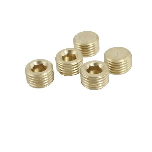 Male Threaded Plug (Water & Wood Brass 1/4