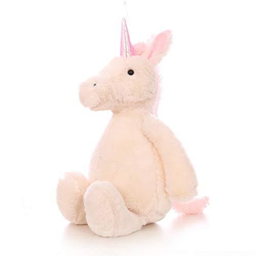 Fluffy Pink Kostüm Unicorn - JiXUN preiswertes Unicorn 30cm Soft Plüsch Creme Pink Toy