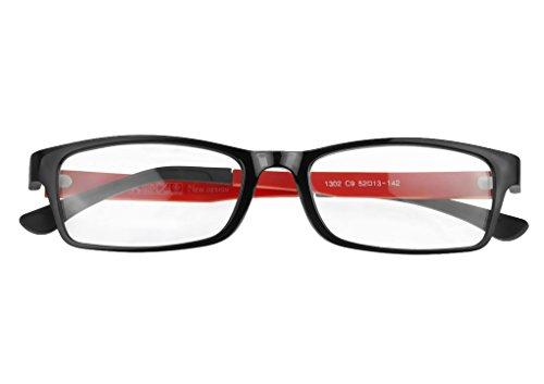 Klassische Nerd Brille oder als Sonnenbrille Wayfarer Brille Dekogläser Anti-Strahlung Brillen für Damen und Herren in verschiedenen Farben