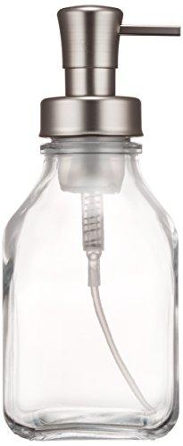 Schaumseifenspender, 7,9 x 7,8 x 20,2 cm, durchsichtig/gebürstet, plastik/glas ()