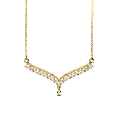 Or blanc/or jaune/Platine Diamant Collier avec chaîne dnc-1735-vsgh