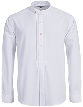 Almsach Trachtenhemd Regular Fit mit Riegel in Weiß