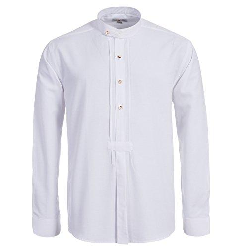 Trachtenhemd mit Riegel in weiß von Almsach, Größe:M;Farbe:Weiß