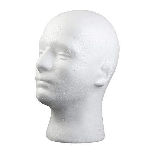 JAGETRADE Schaufensterpuppe Styroporschaum Männlichen Männchen Kopf Modell Perücke Gläser Hut Display-ständer -