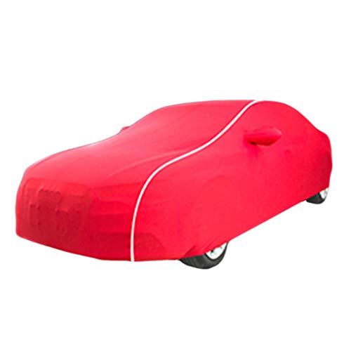 DIAOSI Chezhao Jaguar-Serie benutzerdefinierte Version rot weiße Linie Auto Abdeckung Samt Stretch Kleidung (Keller, Auto Show, Autohaus) (Farbe : Jaguar XP) -