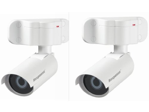 2 x Dummy Security Cameras – Outdoor or Indoor Use – Quality Dummy Camera & Free CCTV Window Sticker