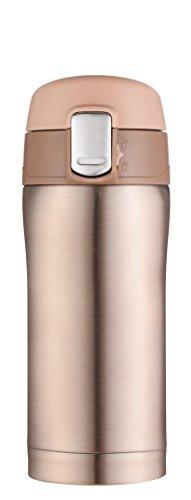 Kooyi 250 ml Vakuum Isolierbecher Wasserflasche, Travel Mug einhändige öffnen und Trinken, 100% auslaufsicher (Champagne-Gold) Kaffee Travel Mug Gold
