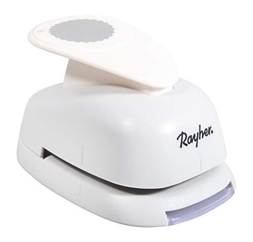 Rayher Hobby 8964100 Motivstanzer Rund/Kreis, mit Zierrand, ø 3,81cm- 1,5 Zoll, geeignet für Papier/Karton bis zu 200g/m²