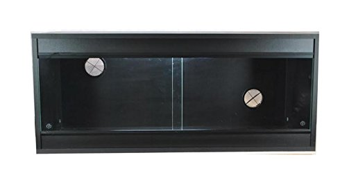 Vivarium 36x15x15 Inch Repti-life Vivarium in Black Flatpacked