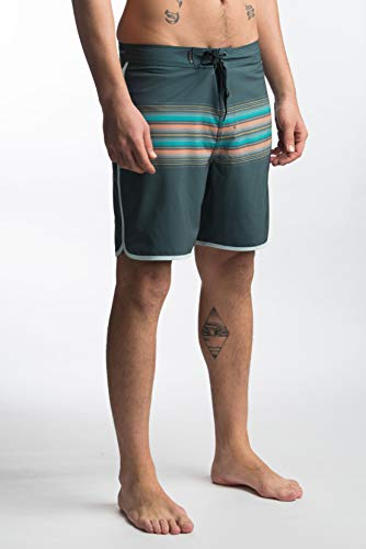 Hurley Herren M Phantom Baja Malibu 18' Boardshort, Deep Jungle, 34 (Phantom Hurley Herren Boardshorts)