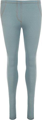 WearAll - Jegging simple en couleurs différents avec poches - Leggings - Femmes - Tailles 36 à 42 Bleu Ciel