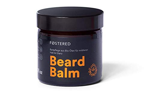 FOSTERED Beard Balm mit BIO Ölen, Bart Balsam 60 g für die perfekte Bartpflege, Natürlich weicher und gepflegter Bart