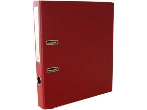 ELBA Kunststoff-Ordner rado plast 5 cm schmal DIN A4 rot mit Einsteckrückenschild Ringordner Aktenordner Briefordner Büroordner Plastikordner Schlitzordner