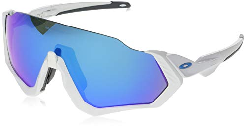 Oakley  Herren Sonnenbrille Flight Jacket, Weiß (Blanco)