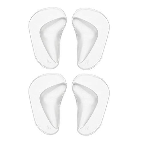 2 Paare Silikon Gel Flat Foot Arch Support Einlegesohlen, Plattfuß Korrektur Schuh Fuss Einlagen Korrektur Pads Bogen Pads für Plattfuß Professionelle Plattfuß Corrector/Mittelfuß Pads (2) -