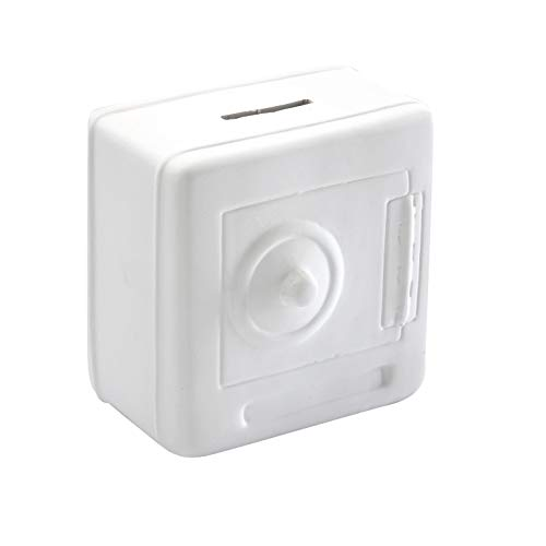 Versa 20220009 Hucha Caja Fuerte Blanca, 12x7x11cm, Cerámica