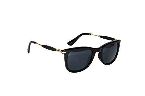 Peter Jones Wayfarer Unisex Sunglasses (Ap7_48_Black)
