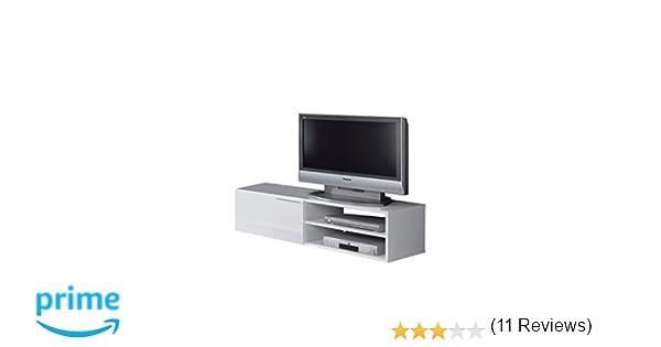 bee16cbb3c29d0 Générique Kikua Meuble TV 130Cm Blanc Brillant - Couleur   Blanc  F00532802002  WHITE Décoration de Noël