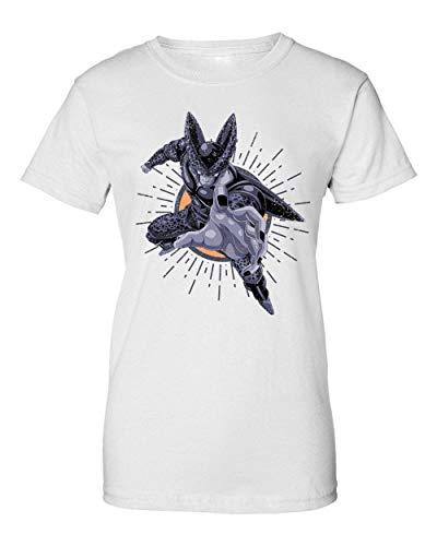 Flying Cell | Dragon Ball | Osom DBZ |Popular Manga | Anime Series | Cool T Shirt | Nice To | Super | Hero Power | Like A | Yolo Swag Camiseta de Mujer Medium