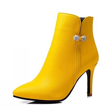 RTRY Scarpe Donna Pu Similpelle Autunno Inverno Comfort Novità Moda Stivali Stivali Stiletto Heel Punta Babbucce/Stivaletti Di Strass US6.5-7 / EU37 / UK4.5-5 / CN37