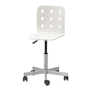 Bürostuhl ikea weiss  IKEA JULES -Junior Schreibtisch Stuhl weiß silberfarben: Amazon.de ...