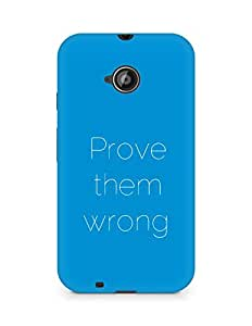 AMEZ prove them wrong Back Cover For Motorola Moto E2