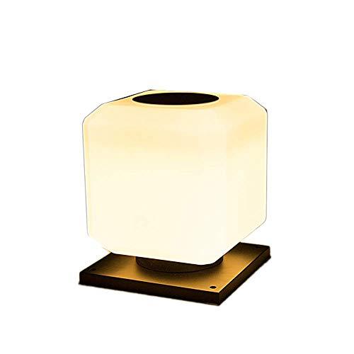 Preisvergleich Produktbild ZHANG NAN Quadratische LED-Solar-Säulenlampe-Zaun-Wand-Lich... im Freien,  die Wasserdichte IP55 beleuchtet