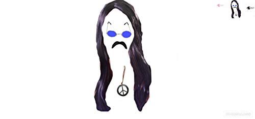 seemeinthat 1960's Hippy Glasses Moustache wig Peace Necklace Woodstock Festival Blue ()