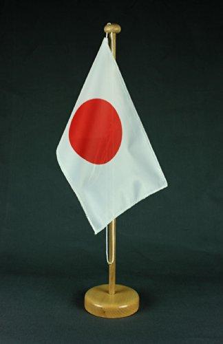 Japan Tischflagge 15x25 cm in Profiqualität, wahlweise mit oder ohne 42 cm Massivholz - Tischständer