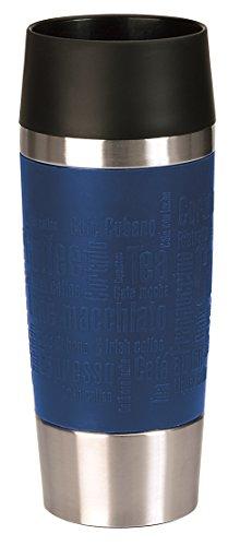 Emsa 515511 Travel Mug Standard, Thermobecher, mobiler Kaffeebecher, 360 ml, Eis-Kaffee, Isolierbecher, Eistee, Quick Press Verschluss, ocean blue