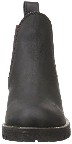 Unbekannt Leder-stiefelette, Bottes courtes avec doublure chaude femme Noir - Schwarz (000 BLACK LD)