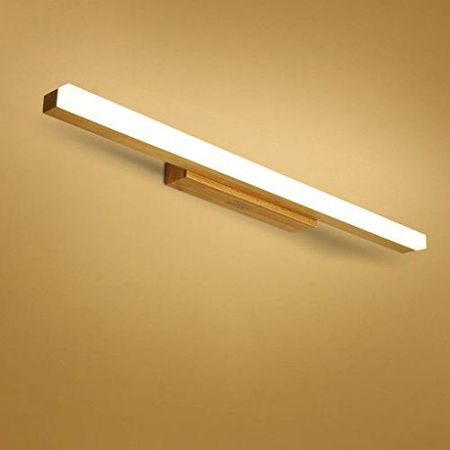 Nordic Massivholz LED Wandleuchte Holztreppen Schlafzimmer Nacht Bad Make-up Spiegel Frontleuchten (40/60/80 cm) (größe : 14W-warm light)
