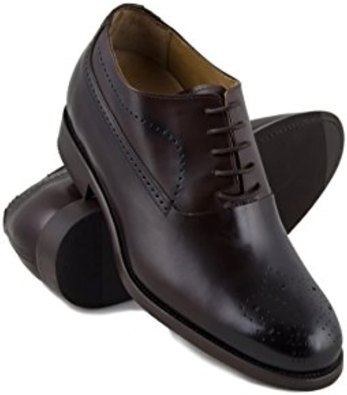 Zerimar Schuhe für Männer Erhöhen Sie 7 cm | Herrenschuhe mit Erhöhungen | Schuhe die Ihre Höhe Erhöhen Color